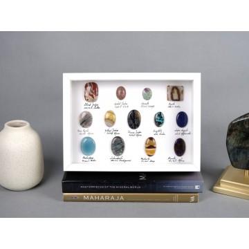Polished ornamental stones...
